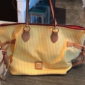 Dooney & Bourke O-ring Tassle Shopper purse